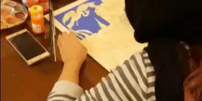 نقاشی دیدار شبانه زال و رودابه اثر مونا گلابی