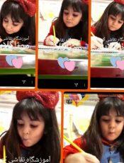 بهترین آموزشگاه نقاشی کودک سعادت آباد مونا گلابی