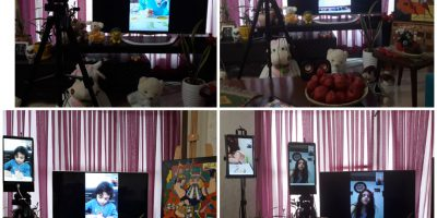 .Mona Golabi Children's Painting School in Iran,saadatabad